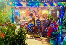 Los Pepines, Jovenes y adolescentes, resultan mas temerarios y puestos en turno, montan sus bicicletas_