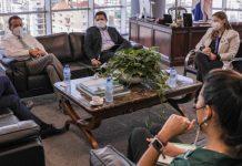 El ministro Ito Bisonó en la reunión con el representante de la FAO, expresó su interés en desarrollar acciones conjuntas con ese organismo.
