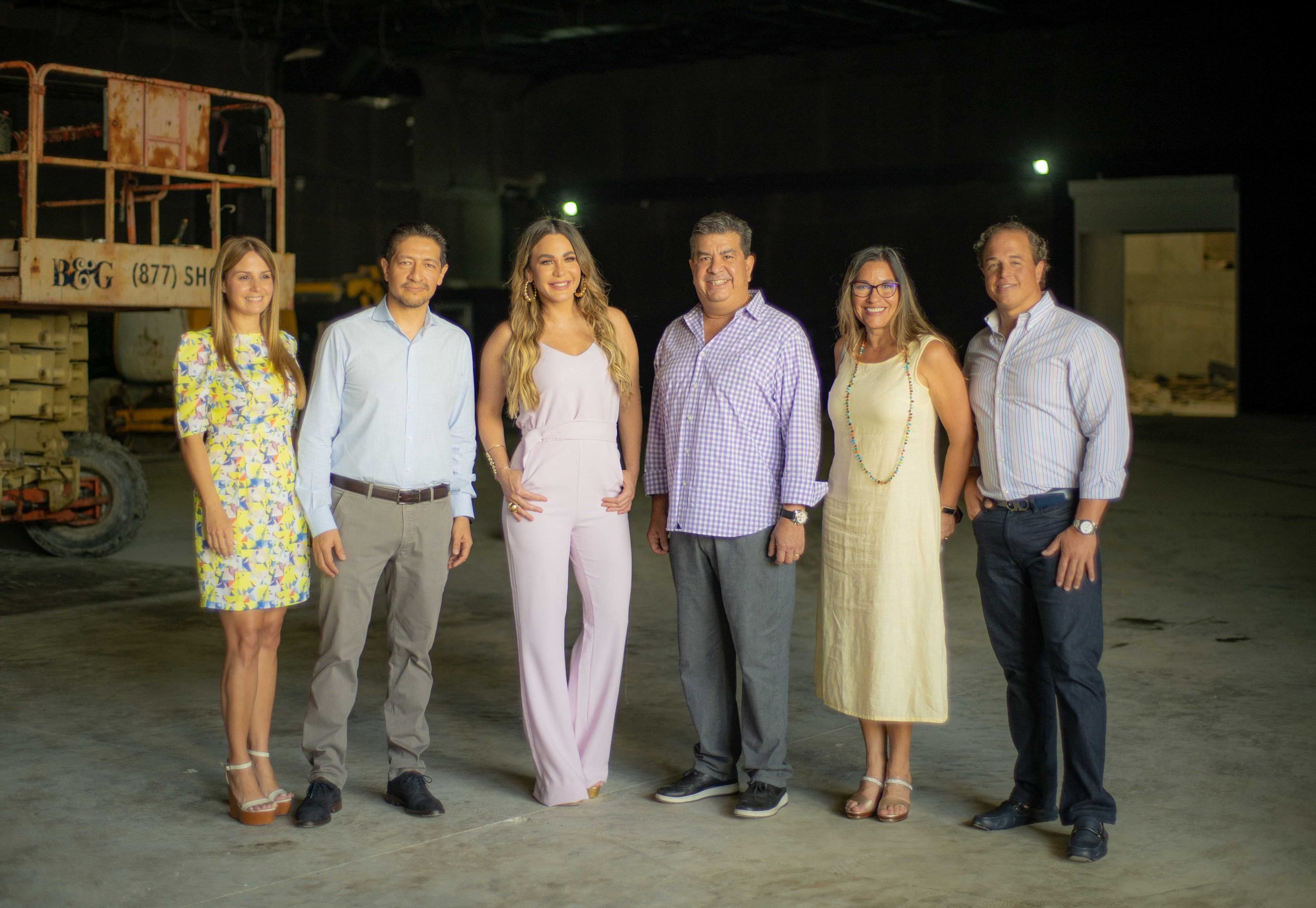 Laura Peña, Oscar Reyna, Luz García, Jesús Hung, Luz Ascanio y Ramón Rodríguez