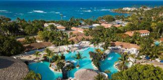 Vista área del Lifestyle Holidays Vacations, en Cofresi, Puerto Plata, el mayor proyecto hotelero abierto, que ha recibido una afluencia récord de turistas nacionales y norteamericanos.