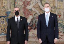 Presidente Dominicano Luis Abinader con el Rey de España, Felipe VI