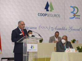 Manuel Gutiérrez, presidente de COOPSEGUROS, informo de los avances en las operaciones ante los delegados a la XXX Asamblea General Ordinaria 2019 y 2020.
